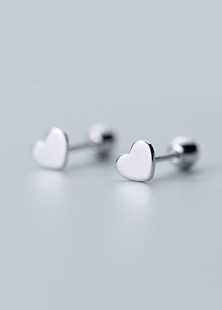 Bông Tai Nữ   Bông Tai Nữ Bạc S925 Trái Tim Yêu Thương B2526 - Bảo Ngọc Jewelry