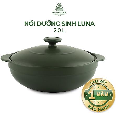 Nồi Dưỡng Sinh Gốm Sứ Minh Long Luna 2.0 L + Nắp (bếp từ)