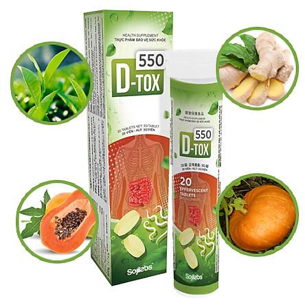 Thực phẩm bảo vệ sức khỏe D- TOX 550 hỗ trợ vi sinh đường ruột