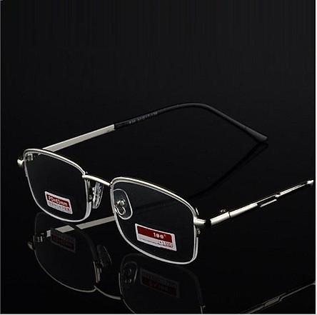 Kính lão thị viễn thị trung niên nửa viền hợp kim titan cao cấp kiểu dáng thể thao KVN656CP2HTTP hàng đẹp