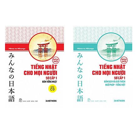 Combo 2 cuốn minna no nihongo giáo trình và bản dịch tập 1(Tiếng Nhật Cho Mọi Người - Trình Độ Sơ Cấp 1) Tặng sổ tay VDT