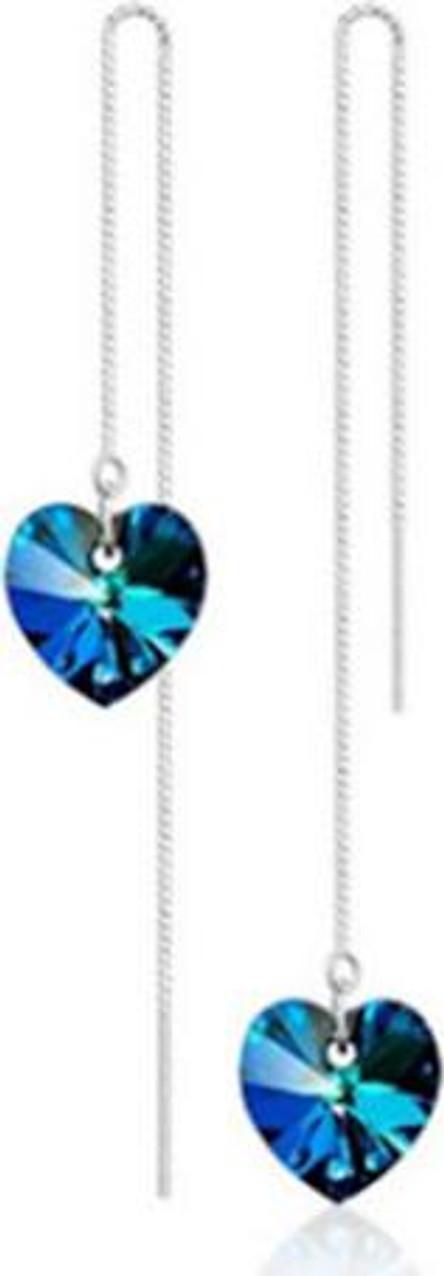 Bông tai bạc 925 dài trái tim