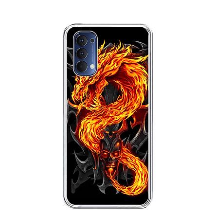 Ốp lưng dẻo cho điện thoại OPPO RENO 4 - 0218 FIREDRAGON - Hàng Chính Hãng