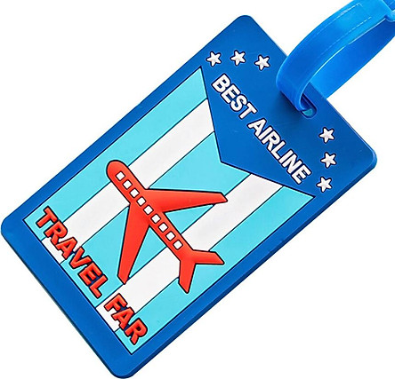 Companion line cartoon silicone luggage tag travel luggage hanging tag shipping card creative travel boarding pass tag identification card red bus BL1072