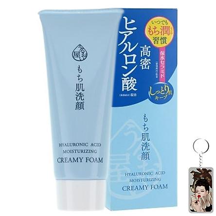 Sữa rửa mặt chống lão hóa Naris Uruoi-ya Hyaluronic Acid Moisturizing Creamy Foam Nhật Bản 100ml + Móc khóa