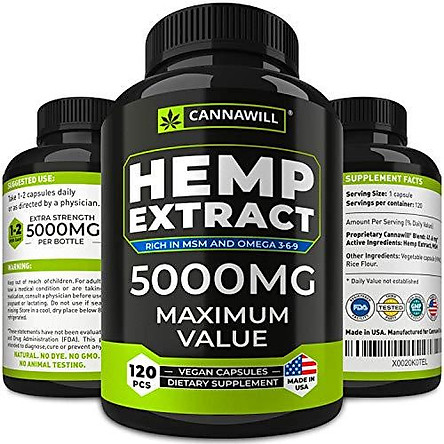 Hemp Oil Capsules 40000MG - Best for Anxiety & Stress Relief - Hemp Seed Oil Capsules Made in USA - 100% Natural Anti Inflammatory, Mood & Immune Support - Good for Skin, Hair & Nails - Omega 3