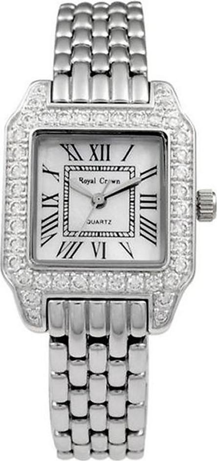 Đồng hồ nữ chính hãng Royal Crown 6104 dây thép bạc