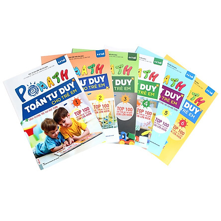 Bộ Sách POMath Toán tư duy Cho Trẻ Em 4 - 6 tuổi (6 Cuốn) (Học Kèm App MCBooks Application) (Quét Mã QR Để Nhận Quà) (Tặng Thêm Bút Hoạt Hình Cực Kute)