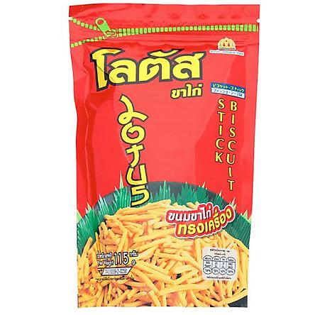 Gói Lớn Bánh que Dorkbua Lotus vị Tôm Đỏ (115g /gói)