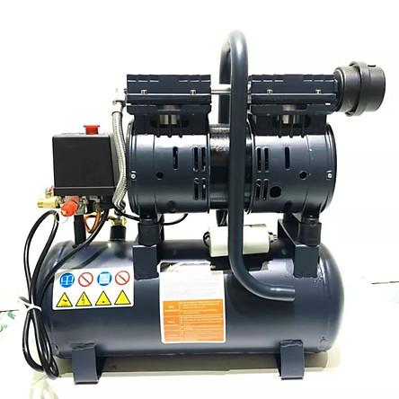 Máy nén khí 9l, máy nén khí không dầu sử dụng cho phun sơn, bơm lốp xe, máy lên hơi nhanh, vận hành êm, nhỏ gọn dễ vận chuyển