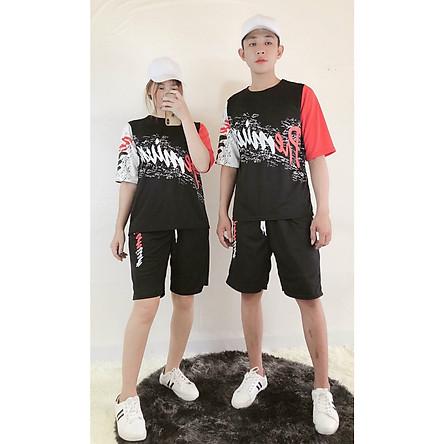Đồ bộ thể thao nam nữ vải thun lạnh mềm mịn, Thời Trang Phong Cách Hàn - aloha style (Freesize từ 45-70kg)-Nhiều kiểu lựa chọn