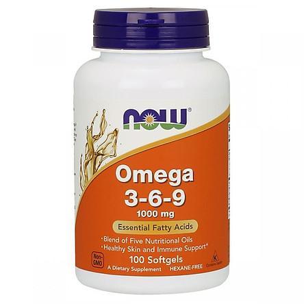 Thực Phẩm Chức Năng Tăng Cường Hệ Miễn Dịch, tim mạch Omega 3-6-9 NOW Foods USA