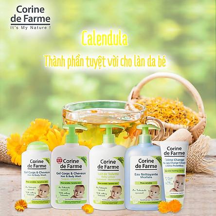 Gel Tắm Gội Cho Bé Corine de Farme Hair & Body Wash 500ml