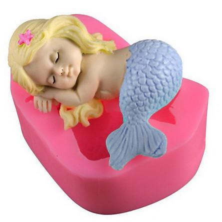 Khuôn silicon nàng tiên cá nằm ngủ