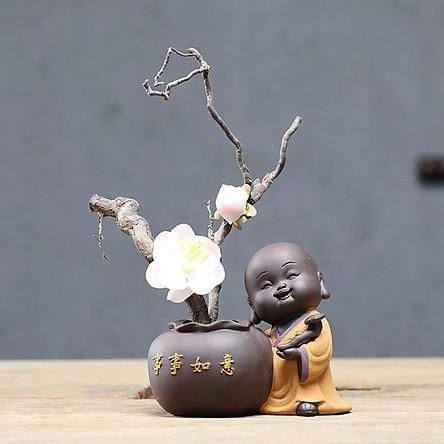 Tượng chú tiểu trồng cây Viên Mãn An Lạc