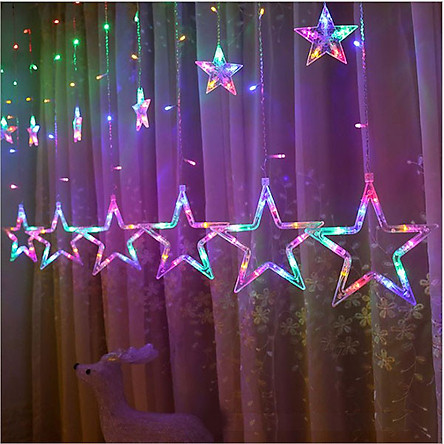 Bộ Dây Đèn Led Trang Trí Kiểu Dáng 10 Ngôi Sao Lớn Nhỏ Trang Trí Noel, Lễ , Tết , Party