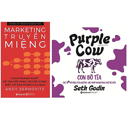 Combo Sách Marketing - Bán Hàng : Word Of Mouth Marketing - Marketing Truyền Miệng + Con Bò Tía
