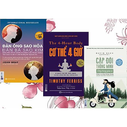 Sách kỹ năng combo 3 quyển: Đàn ông sao hỏa, đàn bà sao kim+ Cơ thể 4 giờ – Bí quyết cân đối khỏe mạnh và đời sống tình dục thăng hoa+ Cặp đôi thông minh sống trong giàu có.(TẶNG thêm  101 mối quan hệ- John C. Maxwell)