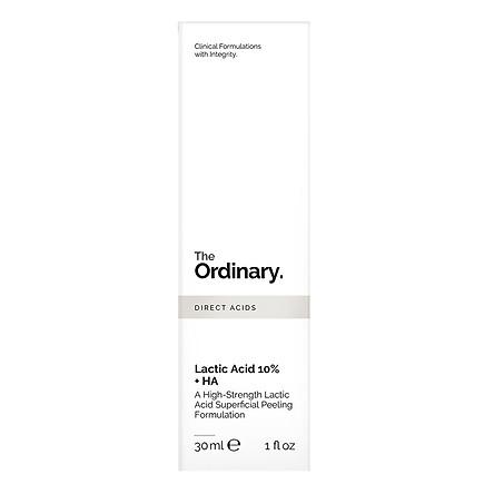 Tinh Chất Tẩy Tế Bào Chết Và Cấp Nước The Ordinary Lactic Acid 10% + HA 30ml