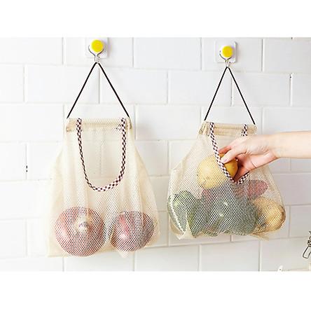 Combo 2 túi vải đựng trái cây, hành tỏi cao cấp MissuVN