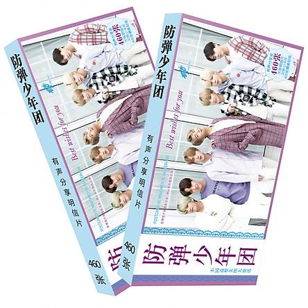 Postcard BTS 460pcs (Tặng móc khóa gỗ BTS thiết kế độc quyền)