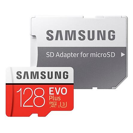 Thẻ Nhớ Micro SD Samsung Evo Plus 128GB U3 Class 10 - 100MB/s (Kèm Adapter) - Hàng Chính Hãng