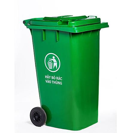 Thùng rác công nghiệp 100l HDPE Song Long- loại dầy dặn