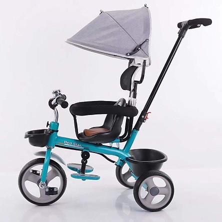 Xe đạp cao cấp 3 bánh có tay đẩy 180-4 (quà tặng súc săc)