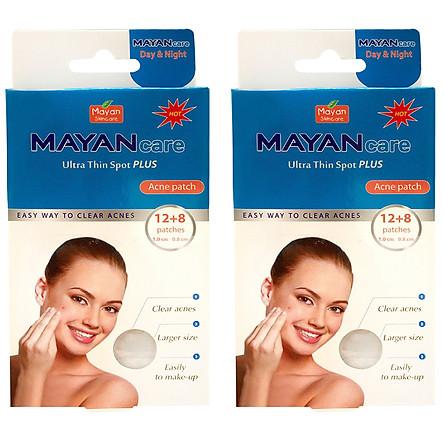 Combo 2 Miếng Dán hỗ trợ điều trị Mụn Mayancare 12 Miếng (1.0cm)
