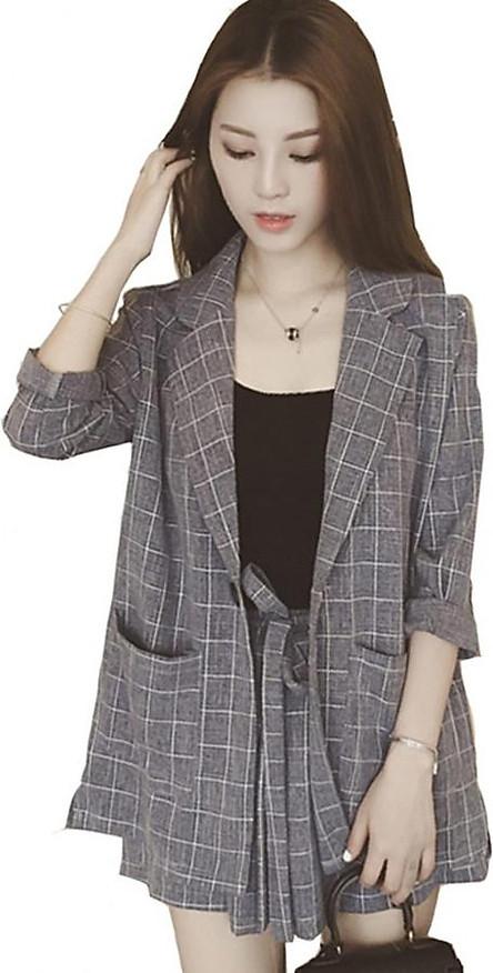 Bộ đồ 3 món dành cho nữ áo khoắc quần sóc và áo hai dây