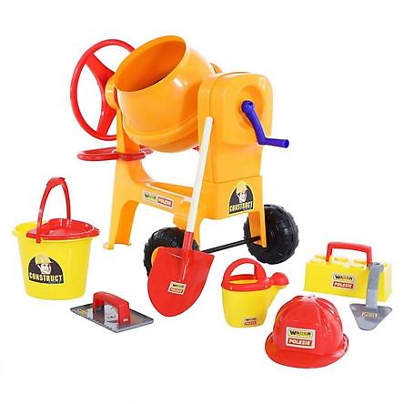 Bộ đồ chơi dụng cụ xây dựng Số 7 và máy trộn xi măng - Wader Toys