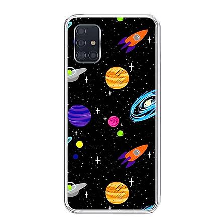 Ốp lưng điện thoại Samsung Galaxy A51 - Silicon dẻo - 0063 SPACE04 - Hàng Chính Hãng