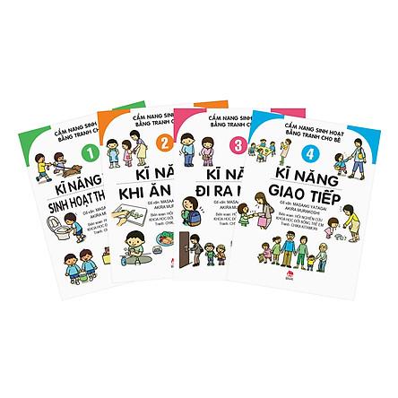 Combo Cẩm Nang Sinh Hoạt Bằng Tranh Cho Bé (4 tập)