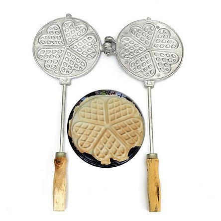 Khuôn Làm Bánh Kẹp Tàn Ong Bánh Nướng Waffle Ăn Kem Thơm Ngon