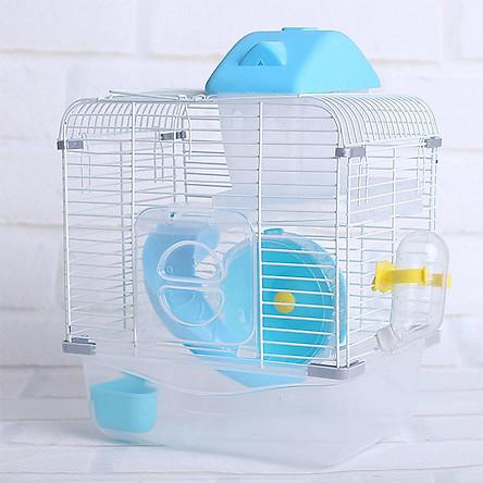 Lồng Hai Lớp Cho Chuột Hamster - Xanh Dương
