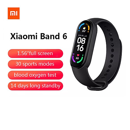 2021 Xiaomi Mi Band 6 smart watch- black