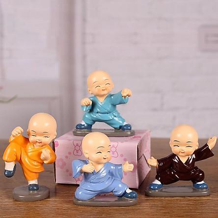 Bộ tượng Bốn Chú Tiểu 4 thế thủ võ