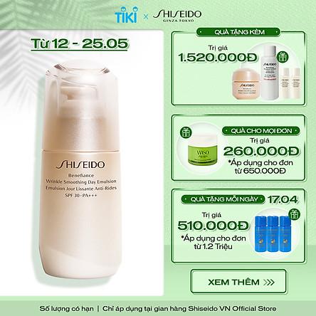 Sữa dưỡng da chống lão hóa ban ngày Shiseido Benefiance Wrinkle Smoothing Day Emulsion SPF 30 PA+++ 75ml