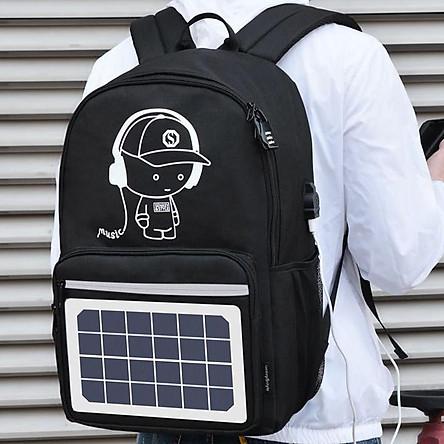 Balo đi học Ohazo! Có sạc năng lượng mặt trời HÓT 2019 ( Tặng khóa số chống Trộm và cáp sạc USB )