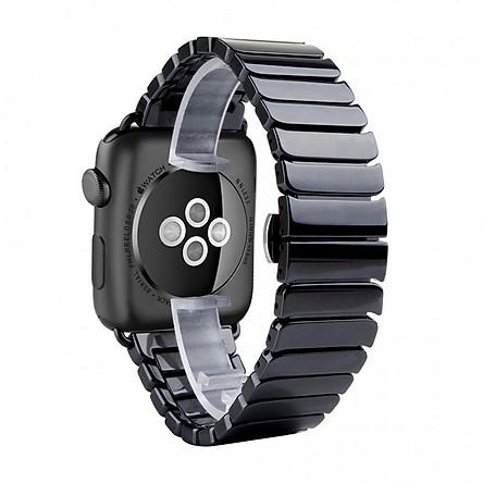 dây đồng hồ Apple Watch, dây gốm khóa thép không gỉ cho đồng hồ Apple Watch