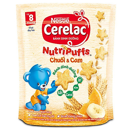 [Chỉ Giao HCM] - Bánh ăn dặm Cerelac Chuối & Cam 50g - 51831