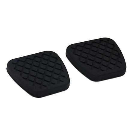 Black Rubber Car Non-slip Brake&Clutch Pedal Cover Case For Honda Acura