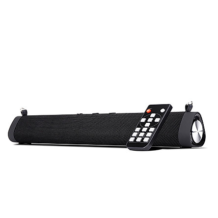 Portable Desktop Bluetooth Speaker Sound Bar 2 * 8W Bass Subwoofer With Shoulder Strap Wireless Remote Control Support