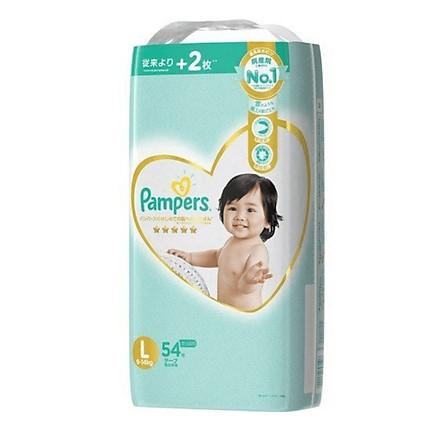 Bỉm - Tã dán Pampers Premium New size L 54 miếng (Cho bé 9~14kg)