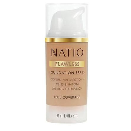 Natio Flawless Foundation SPF 15 Light Honey Online Only