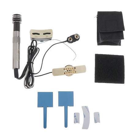 Microphone Sound Hole Equalizer Piezo Pickup For Acoustic Guitar