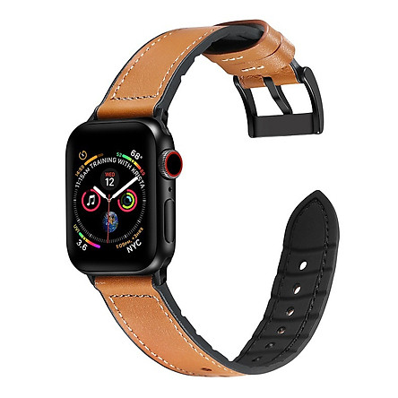 Dây da sáp dầu Vintage thay thế cho Apple watch hộp gỗ cao cấp