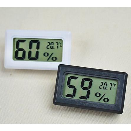 Thiết bị đo nhiệt độ, độ ẩm mini (Màu ngẫu nhiên) - Tặng kèm đèn pin bóp tay