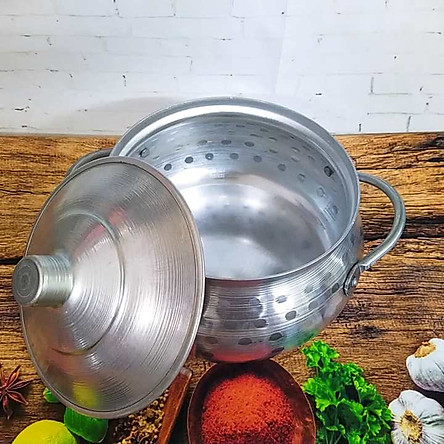 Nồi Lẩu BẦU THÁI mẫu MỚI SIÊU ĐẸP Size20. Lẩu NHÔM CỔ ĐIỂN. Dụng cụ bếp nấu lẩu được gò thủ công mang chất TRUYỀN THỐNG, dùng làm Lẩu Mắm, Tái, CUA ĐỒNG các món Soup. Chuyên DECOR cho các sự kiện món ăn DÂN DÃ DÂN TỘC