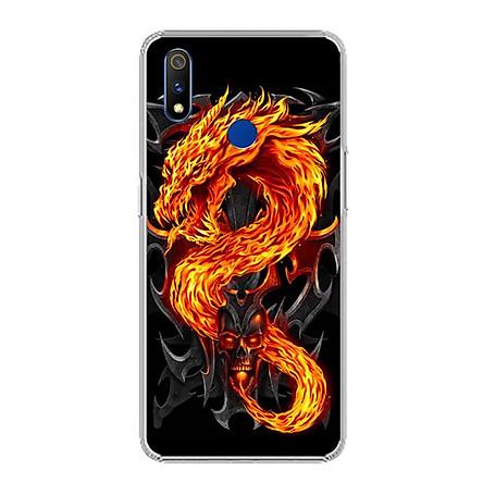 Ốp lưng cho Realme 3 Pro - 0218 FIREDRAGON - Silicone dẻo - Hàng Chính Hãng